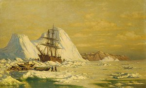 Reproduction oil paintings - William Bradford - An Incident Of Whaling
