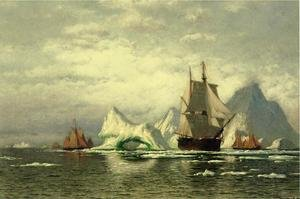 Reproduction oil paintings - William Bradford - Arctic Whaler Homeward Bound Among The Icebergs