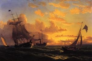 Reproduction oil paintings - William Bradford - Fresh Breeze Of Sandy Hook
