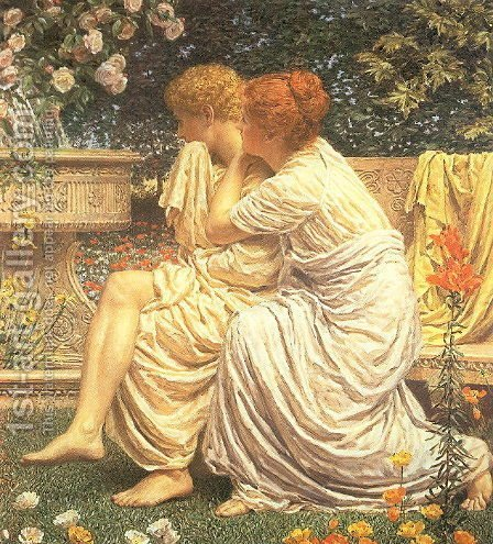 Idyll by Albert Joseph Moore - Reproduction Oil Painting