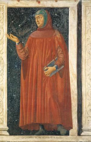 Renaissance - Early painting reproductions: Famous Persons Francesco Petrarca 1450