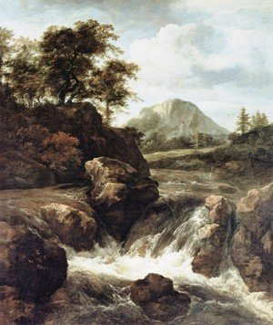 Reproduction oil paintings - Jacob Van Ruisdael - A Waterfall