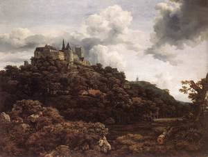 Reproduction oil paintings - Jacob Van Ruisdael - Bentheim Castle 1653