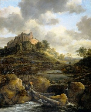Reproduction oil paintings - Jacob Van Ruisdael - Bentheim Castle2
