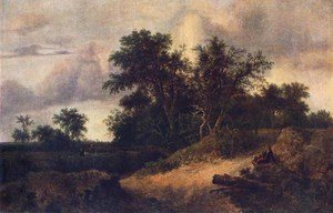 Reproduction oil paintings - Jacob Van Ruisdael - Landscape with a House in the Grove about 1646
