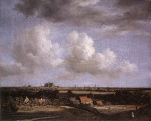 Reproduction oil paintings - Jacob Van Ruisdael - Landscape with a View of Haarlem 1670-75