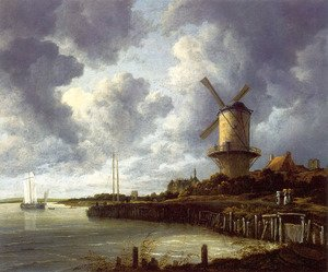 Reproduction oil paintings - Jacob Van Ruisdael - Mill At Wijk Near Duursteede