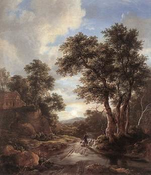 Reproduction oil paintings - Jacob Van Ruisdael - Sunrise in a Wood  1670