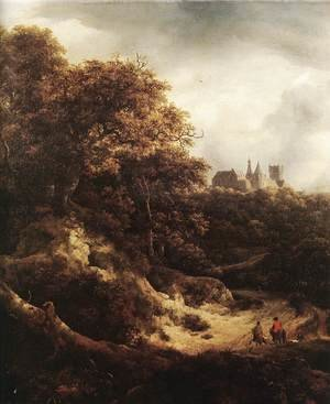 Reproduction oil paintings - Jacob Van Ruisdael - The Castle at Bentheim 1651