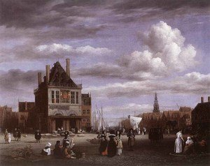 Jacob Van Ruisdael reproductions - The Dam Square In Amsterdam