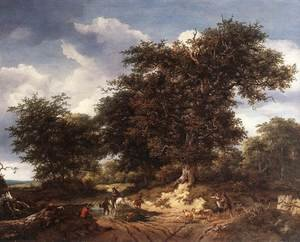 Reproduction oil paintings - Jacob Van Ruisdael - The Great Oak 1652