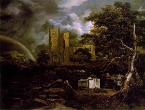 Reproduction oil paintings - Jacob Van Ruisdael - The Jewish Cemetery c 1657