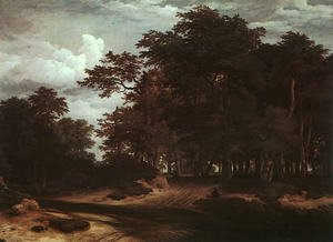 Reproduction oil paintings - Jacob Van Ruisdael - The Great Forest