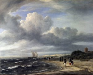 Reproduction oil paintings - Jacob Van Ruisdael - The Shore at Egmond-an-Zee c. 1675