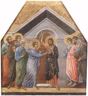 Reproduction oil paintings - Duccio Di Buoninsegna - Doubting Thomas 1308-11
