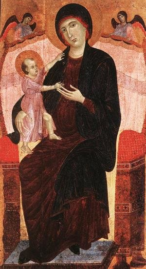 Reproduction oil paintings - Duccio Di Buoninsegna - Gualino Madonna after 1285