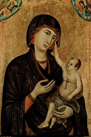 Madonna with Child and Two Angels (Crevole Madonna) 1283-84