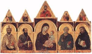 Reproduction oil paintings - Duccio Di Buoninsegna - Polyptych No. 28, 1300-05