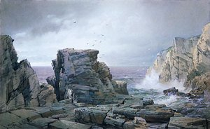 Reproduction oil paintings - William Trost Richards - A Rocky Coast