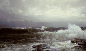 Reproduction oil paintings - William Trost Richards - Breakers At Beaver