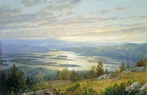 Reproduction oil paintings - William Trost Richards - Lake Squam And The Sandwich Mountains