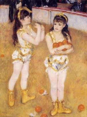 Famous paintings of Children: Acrobats At The Cirque Fernando Aka Francisca And Angelina Wartenberg