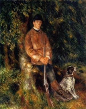 Famous paintings of Domestic Animals: Alfred Berard And His Dog
