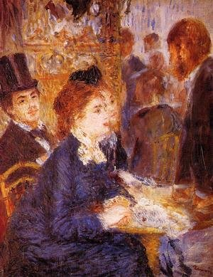 Famous paintings of Cafes & Bistros: At The Cafe2