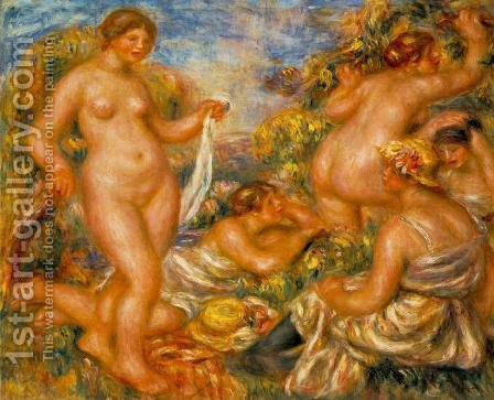 Bathers by Pierre Auguste Renoir - Reproduction Oil Painting