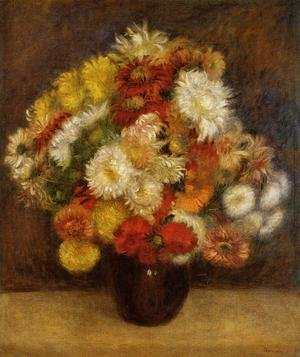 Famous paintings of Vases: Bouquet Of Chrysanthemums