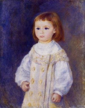 Reproduction oil paintings - Pierre Auguste Renoir - Child In A White Dress Aka Lucie Berard