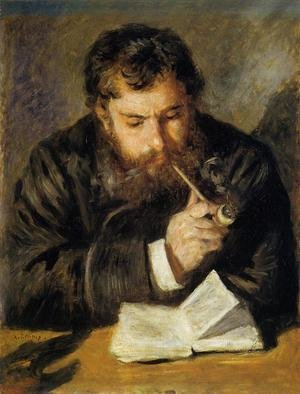 Reproduction oil paintings - Pierre Auguste Renoir - Claude Monet Aka The Reader