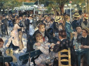 Famous paintings of People: Dance At The Moulin De La Galette