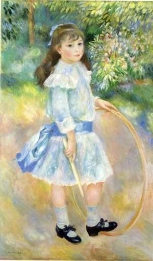 Famous paintings of Children: Girl With A Hoop