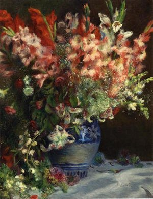 Famous paintings of Vases: Gladiolas In A Vase