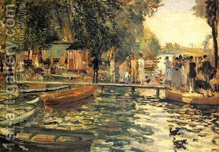 La Grenouillere by Pierre Auguste Renoir - Reproduction Oil Painting