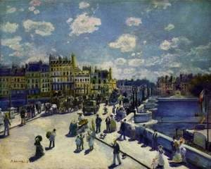 Famous paintings of Houses: Le Pont Neuf  Paris