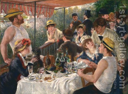 Pierre Auguste Renoir: Luncheon Of The Boating Party - reproduction oil painting