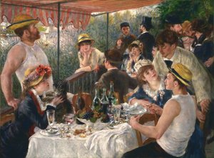 Famous paintings of People: Luncheon Of The Boating Party