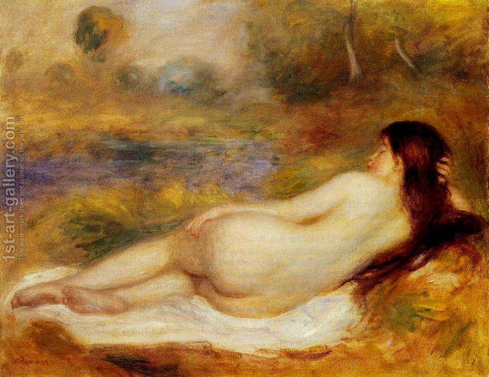 Huge version of Nude Reclining On The Grass