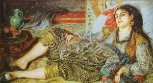 Famous paintings of Vases: Odalisque Aka An Algerian Woman