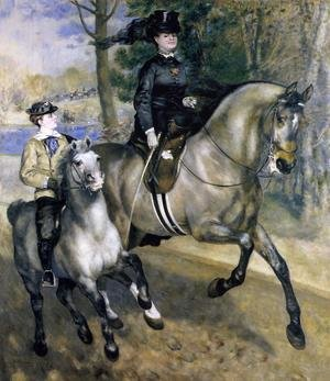 Famous paintings of Horses & Horse Riding: Riding In The Bois De Boulogne Aka Madame Henriette Darras Or The Ride