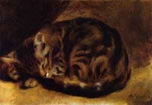 Famous paintings of Domestic Animals: Sleeping Cat