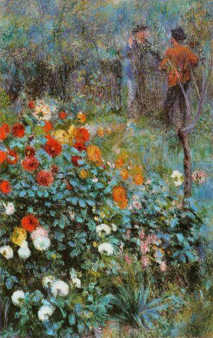 Reproduction oil paintings - Pierre Auguste Renoir - The Garden In The Rue Cortot At Montmartre