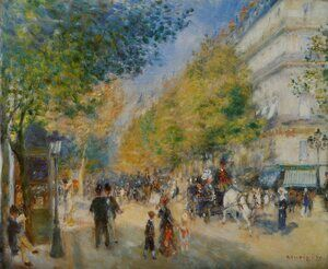 Famous paintings of Transportation: The Great Boulevards