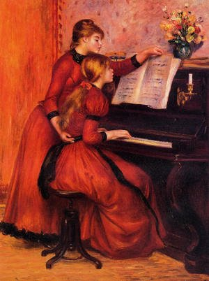 Reproduction oil paintings - Pierre Auguste Renoir - The Piano Lesson