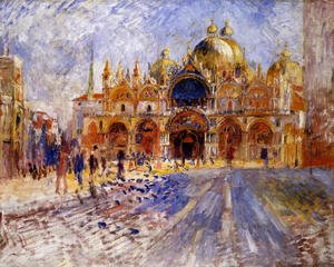 Famous paintings of Squares and Piazzas: The Piazza San Marco  Venice