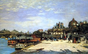Famous paintings of Children: The Pont Des Arts And The Institut De France