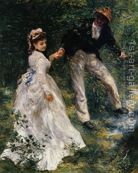 Pierre Auguste Renoir: The Promenade - reproduction oil painting