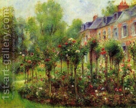 The Rose Garden At Wargemont by Pierre Auguste Renoir - Reproduction Oil Painting